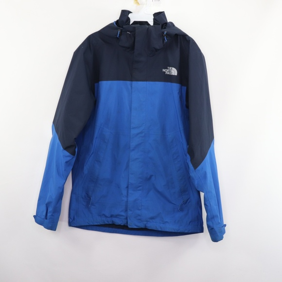 08871904c The North Face Gore-Tex Hooded Rain Jacket Blue